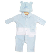 Celebrity Kids Boys 3 Piece Coverall 6-9months…