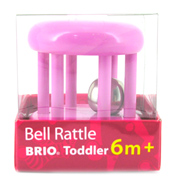Brio Coloured Bell Rattle in Green