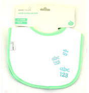 Junior Macare 2 Cotton Embroidered Bibs