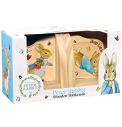 Beatrix Potter PETER RABBIT Wooden Bookends